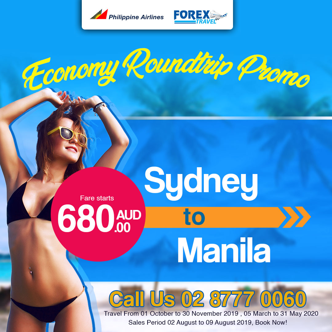 Philippines Airlines SYDNEY Roundtrip promo, from as low as $680!