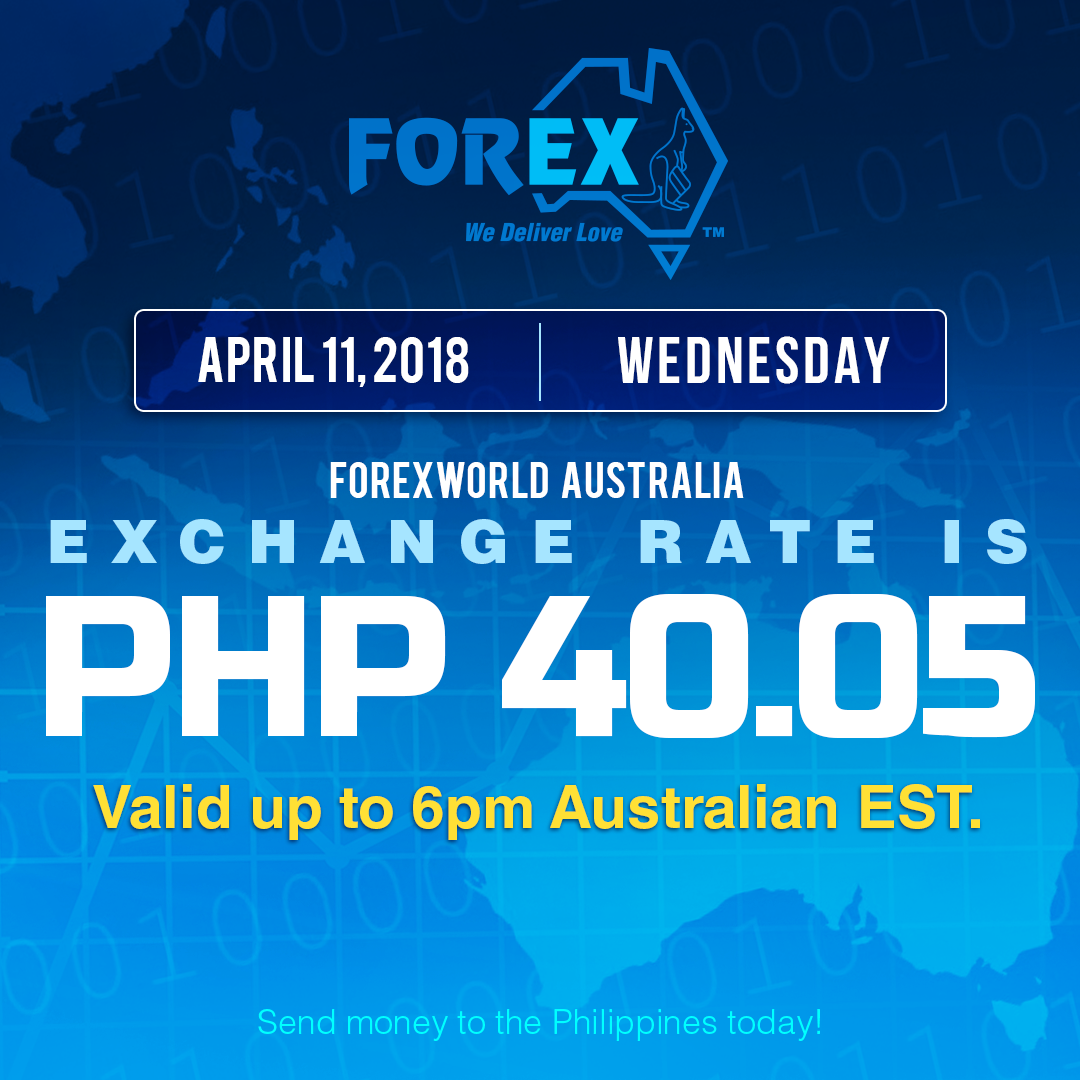 Australian Dollar Philippines Peso exchange rate April 11, 2018
