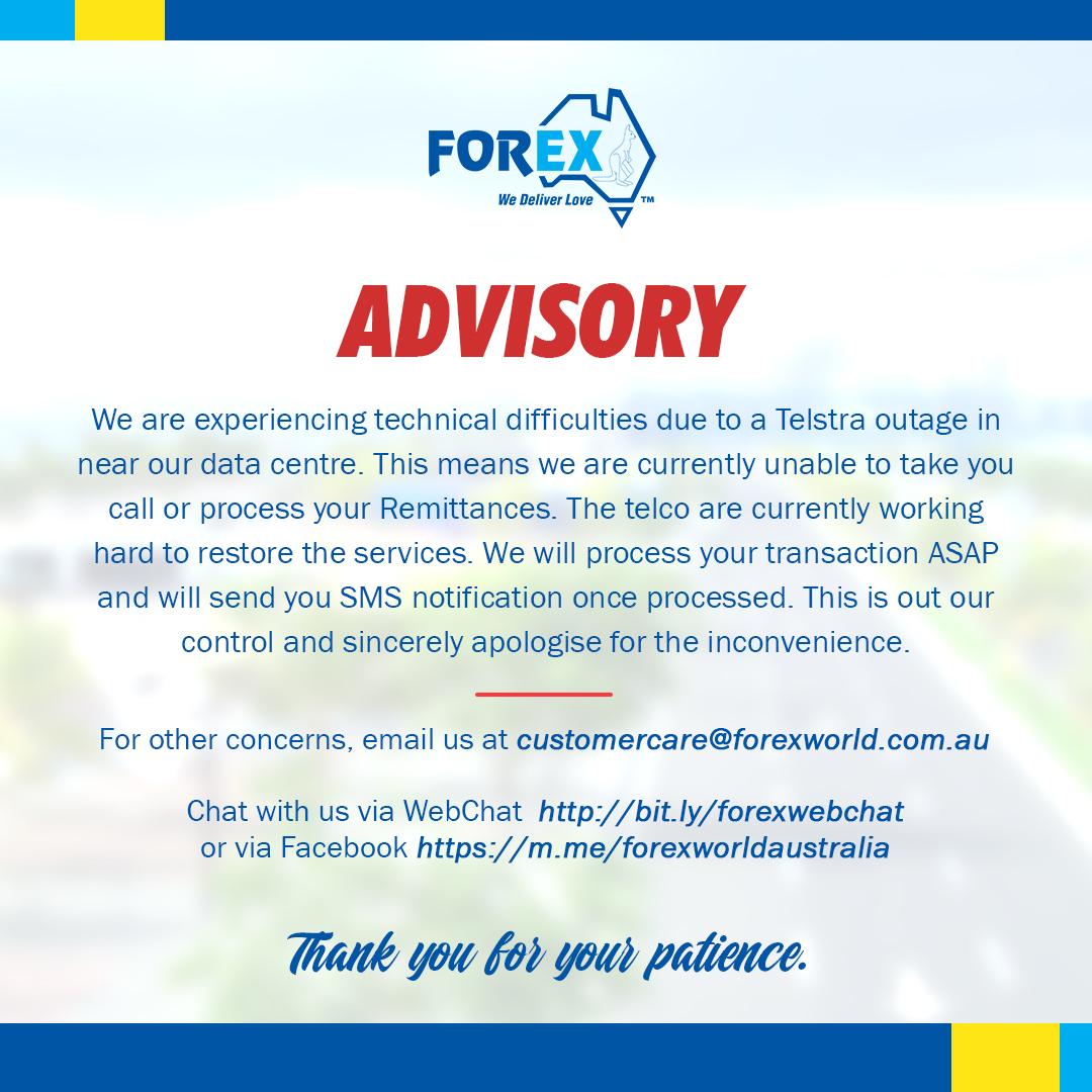 Advisory: Service Outage