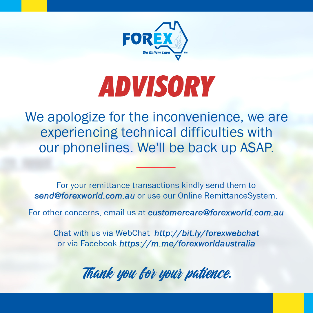 Service Announcement - Phone lines Down
