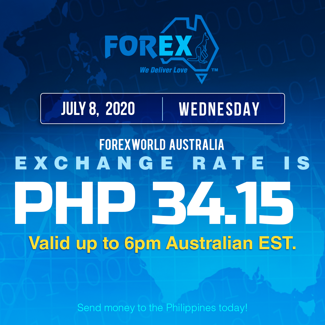 Australian Dollar Philippines Peso exchange rate July 8, 2020