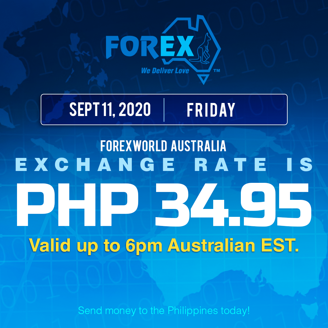 Australian Dollar Philippines Peso exchange rate September 11, 2020