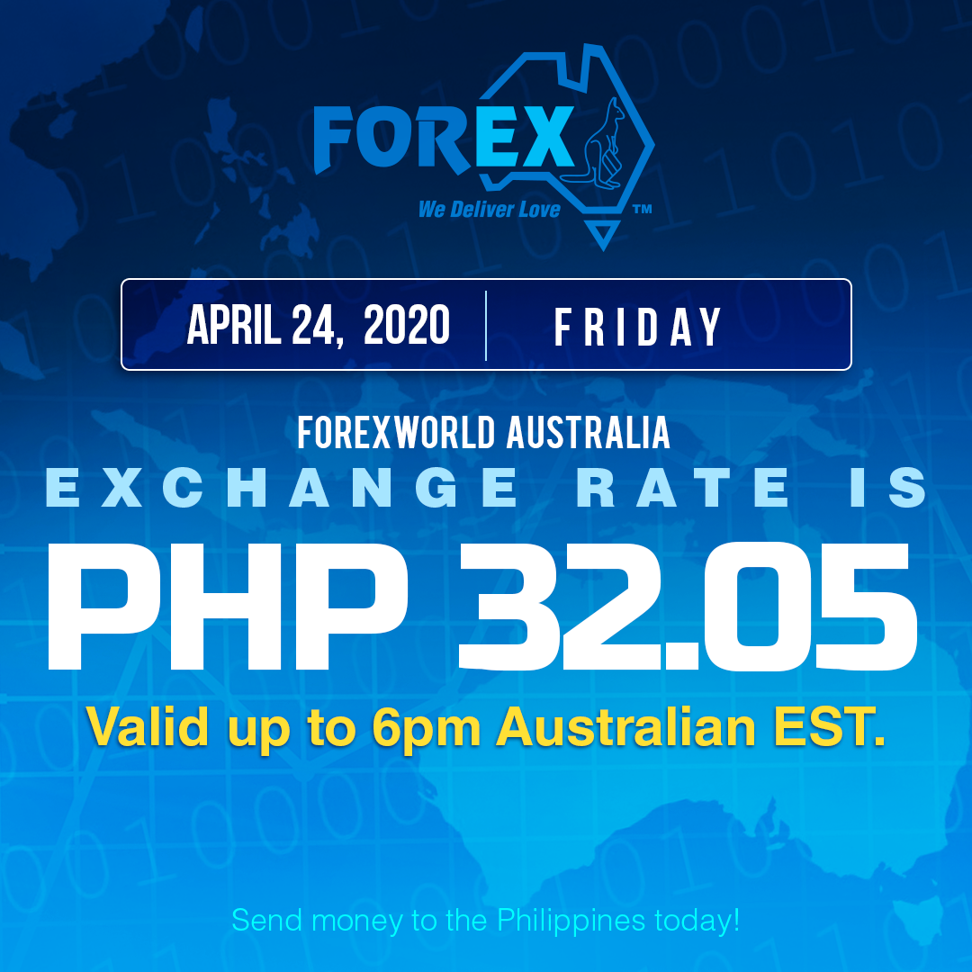 Australian Dollar Philippines Peso exchange rate April 24, 2020
