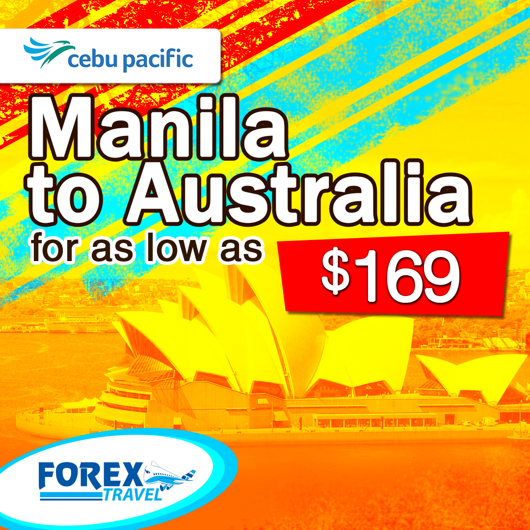 Cebu Pacific, Manila to Australia One Way Fare Promo.