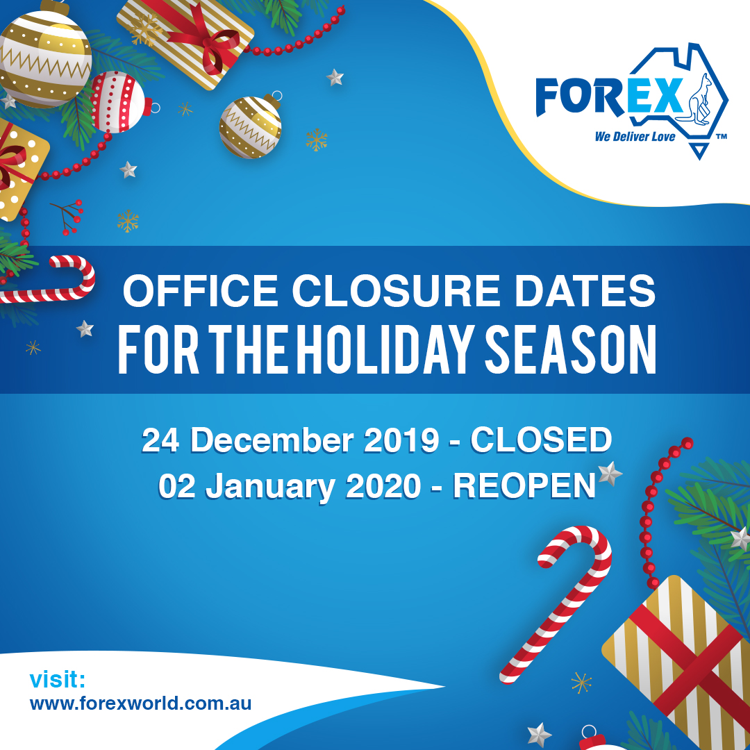 Holiday Season Office Closure Dates