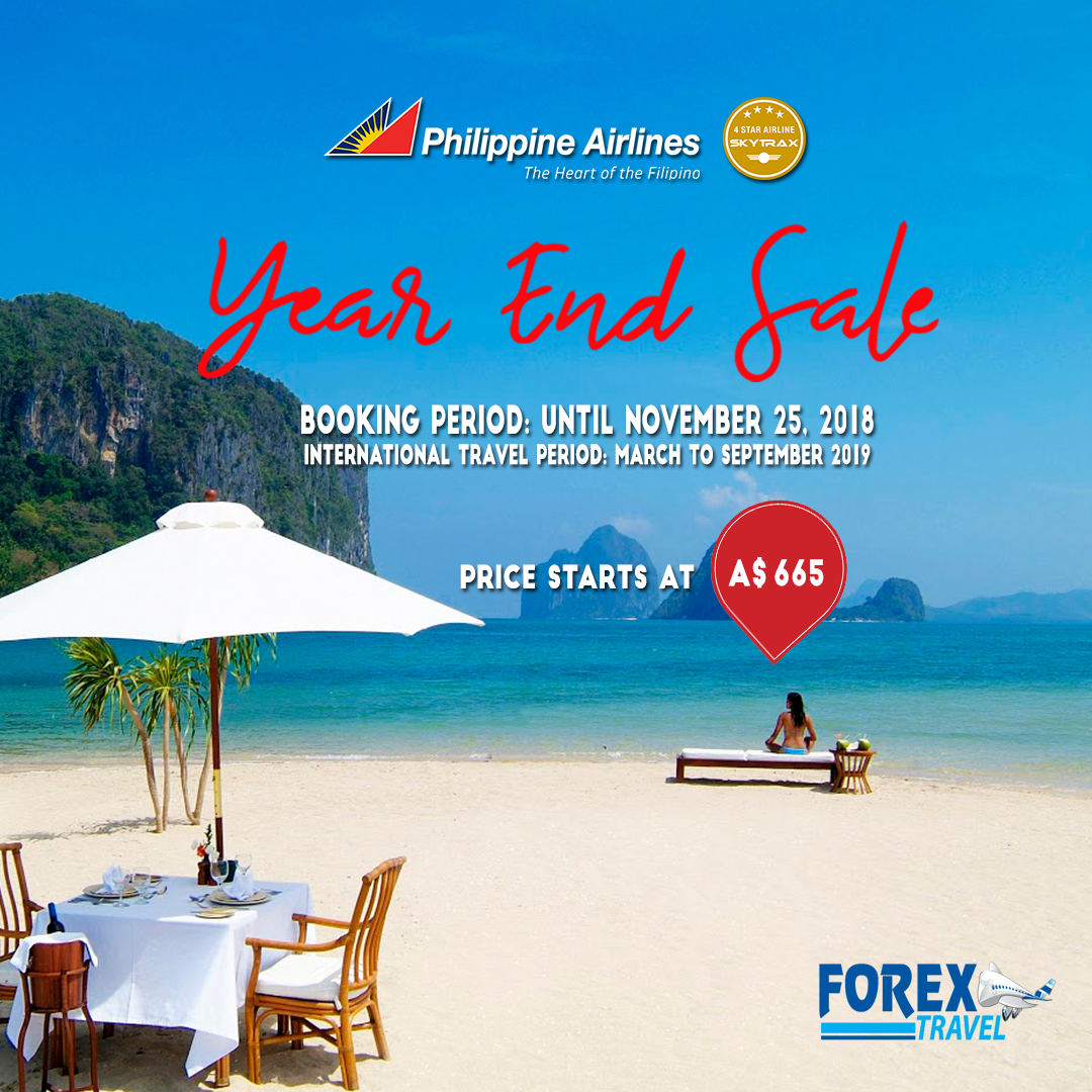 Philippine Airlines Year End Sale Promo Price starts at AUD 665.00