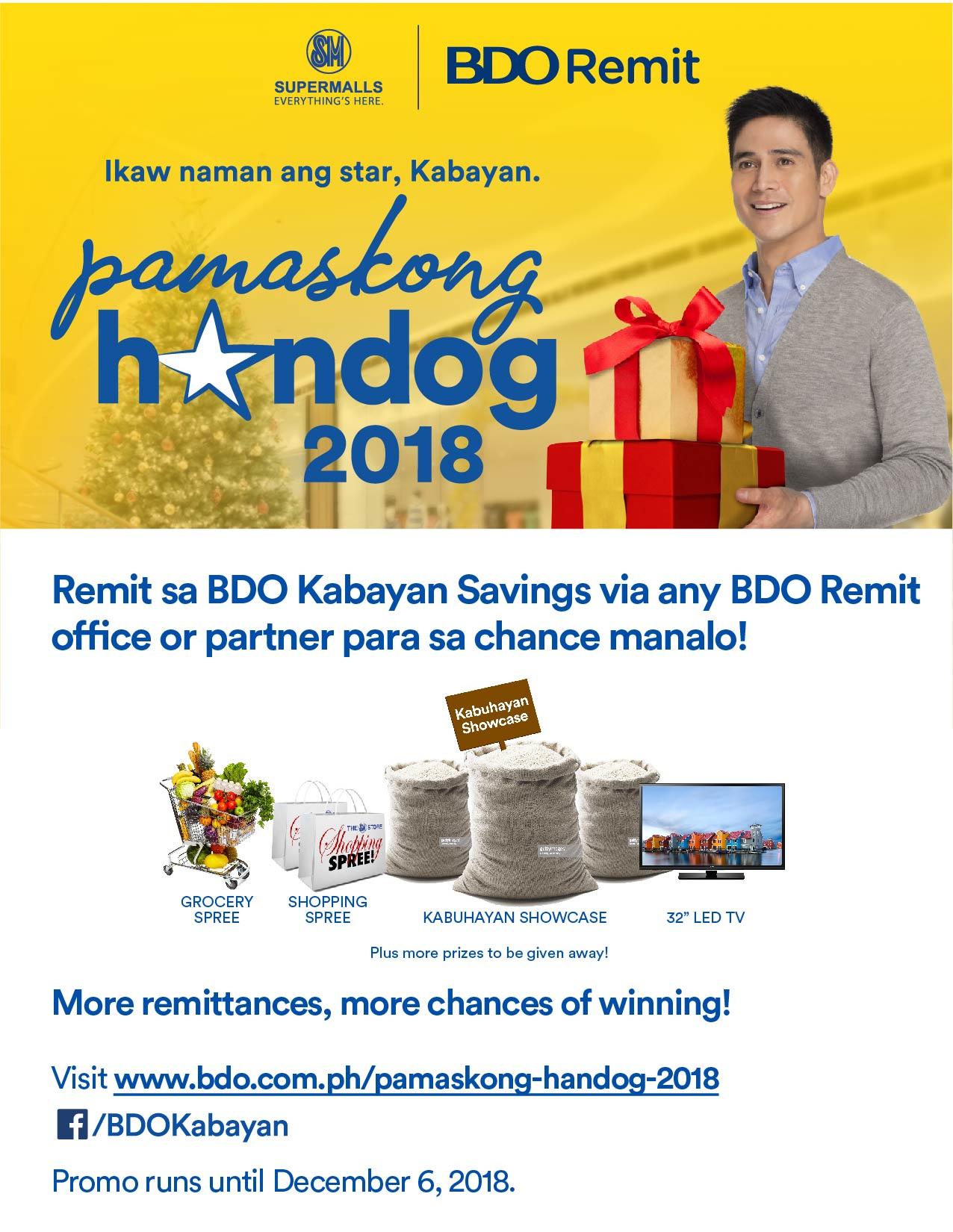 BDO Pamaskong Handog 2018