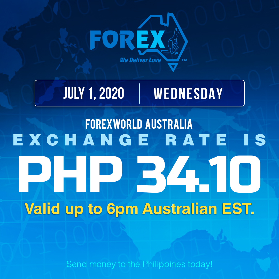 Australian Dollar Philippines Peso exchange rate July 1, 2020