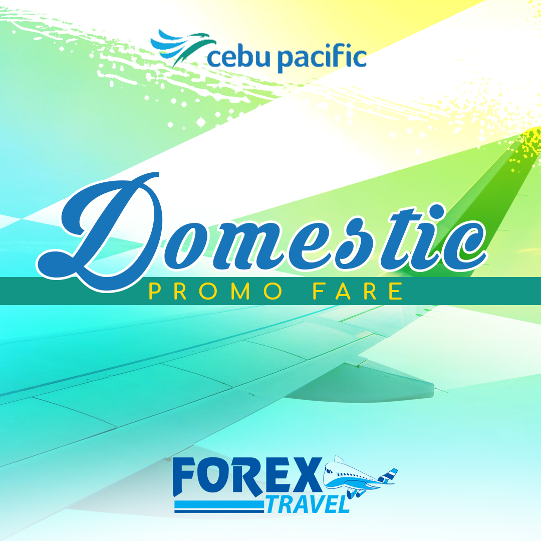 Cebu Pacific Domestic Promo Sale.