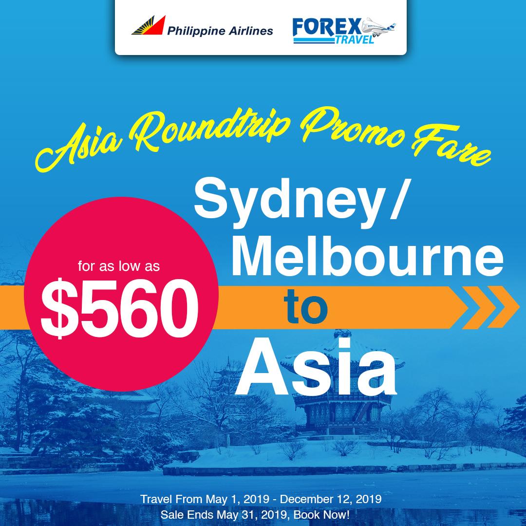 Philippine Airline Sydney, Melbourne Roundtrip Promo Fare
