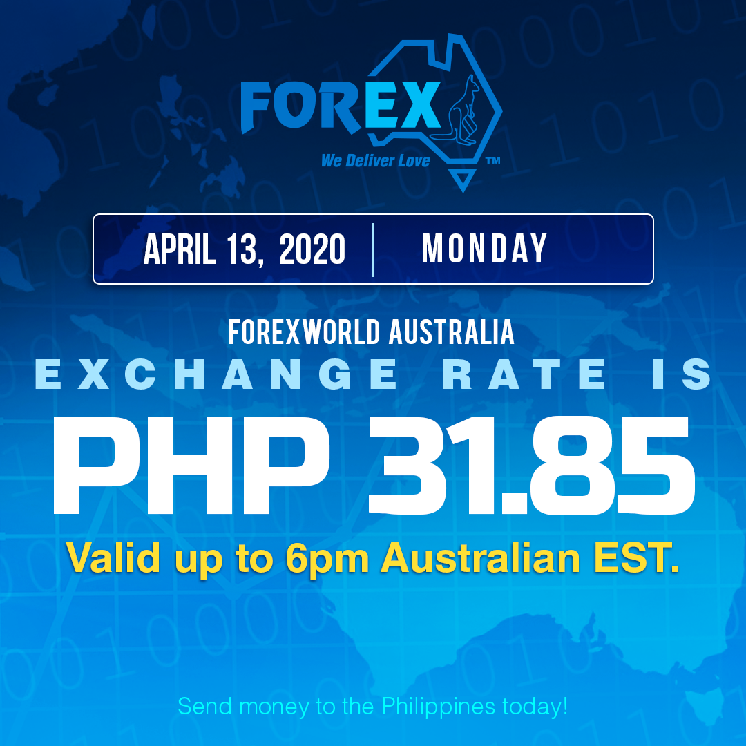 Australian Dollar Philippines Peso exchange rate April 13, 2020