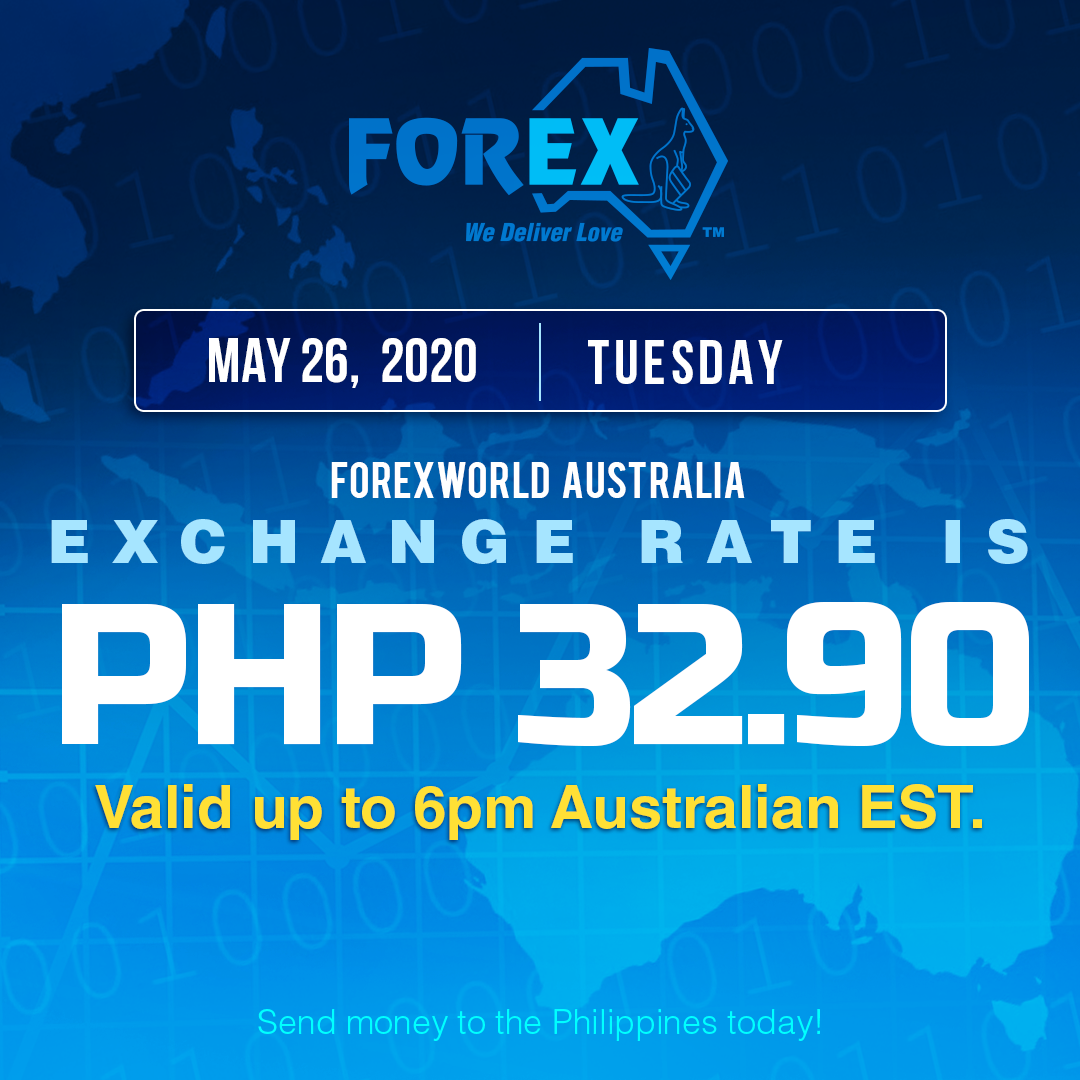 Australian Dollar Philippines Peso exchange rate May 26, 2020