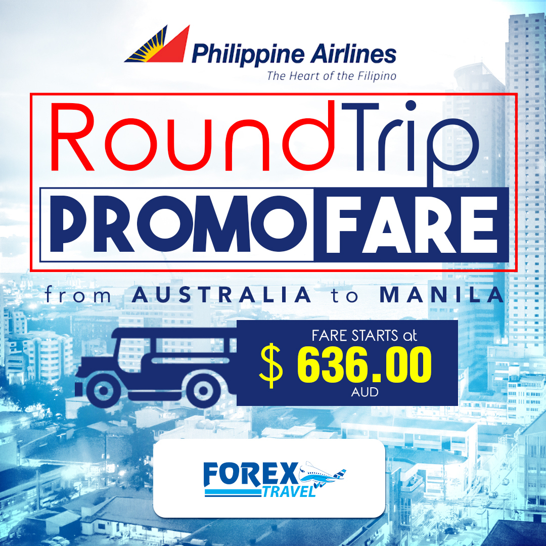 Philippines Airlines Economy Roundtrip Promo Fares From Australia to Manila!