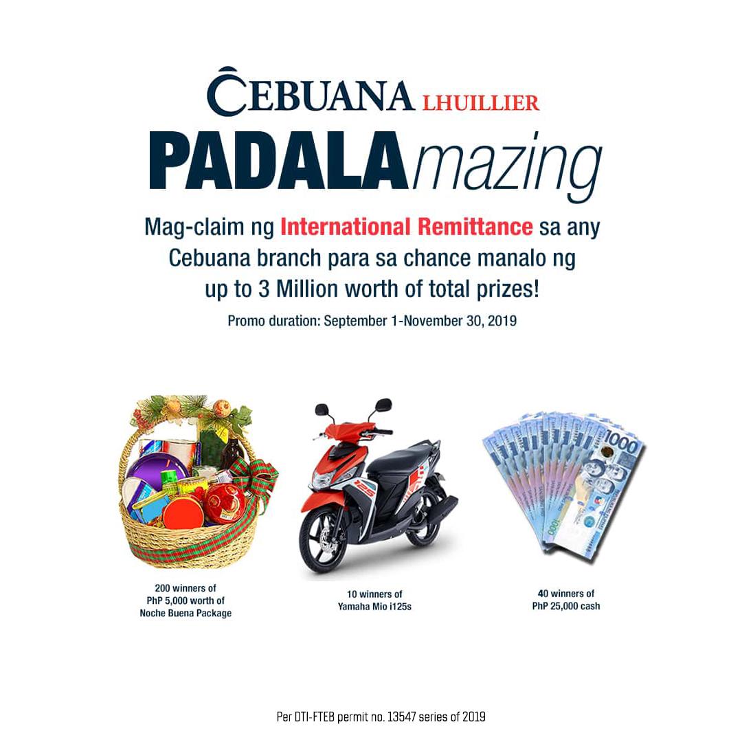 Cebuana PADALAmazing Raffle Promo