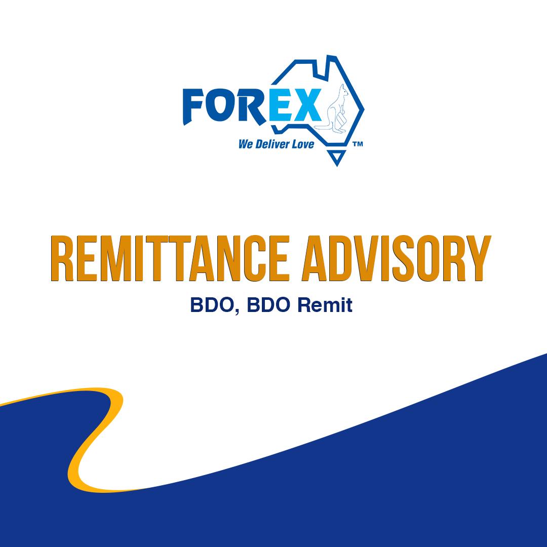 Remittance Advisory - BDO