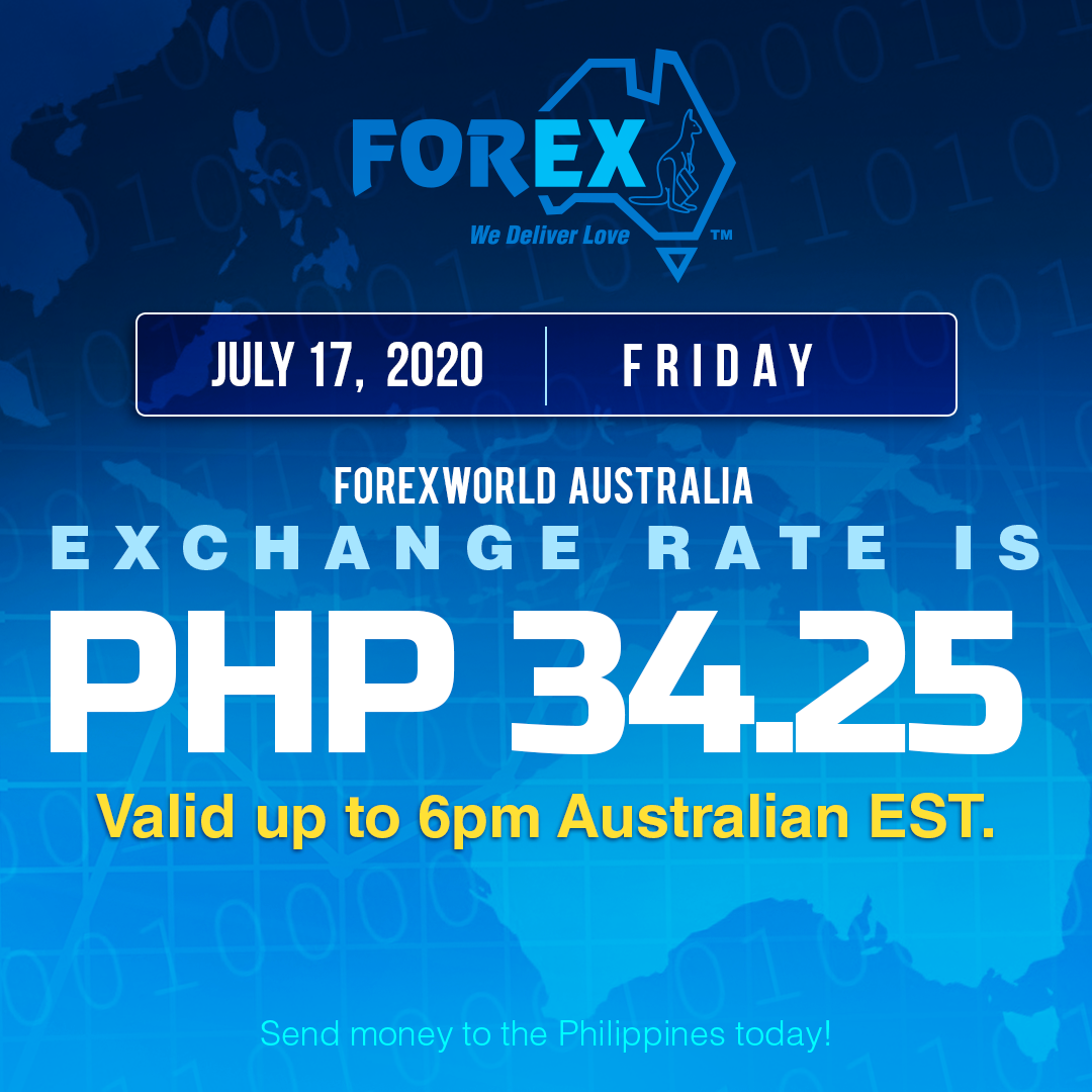 Australian Dollar Philippines Peso exchange rate July 17, 2020