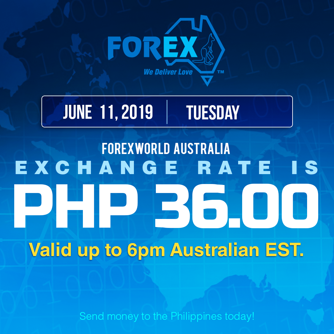 Australian Dollar Philippines Peso exchange rate June 11, 2019